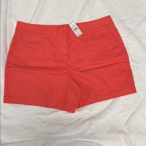 Loft 6inch cotton shorts- dark salmon, size 14